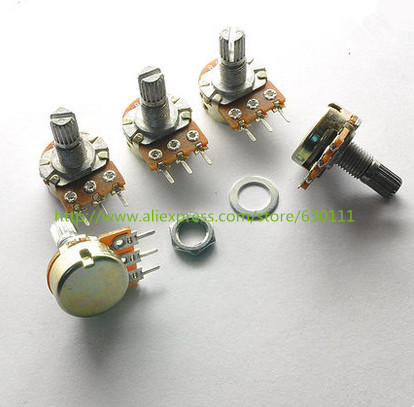popular 10k linear buy cheap 10k linear lots from 10k linear 50pcs potentiometer pot wh148 b10k 10k linear shaft shank length 15mm bkp11 mainland