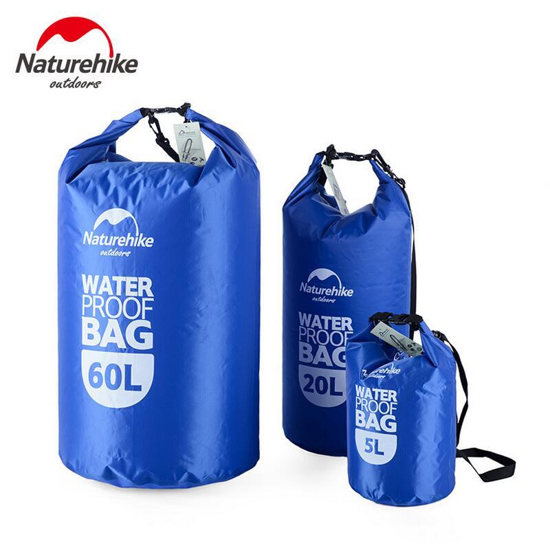 Naturehike Outdoor Travel Drifting Swimming Bag Men And Women's Handbags Shoulder Waterproof Nylon Beach Bag Phone Pouch