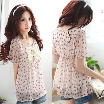 Free shipping summer 2013 chiffon blouse for women korean shirt ...
