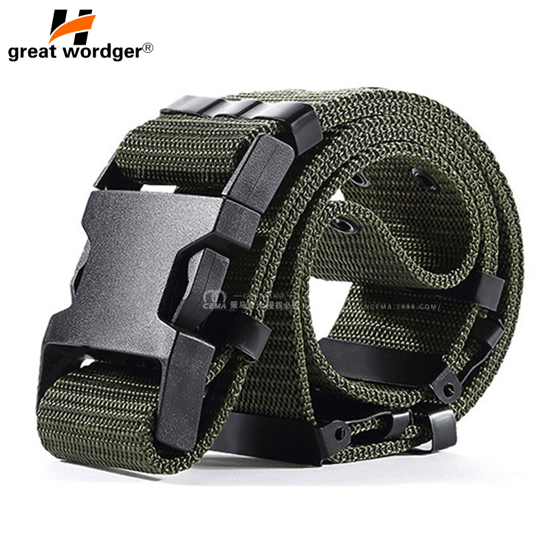 Military Equipment Swat Police Army Belt Men Heavy Duty Combat Tactical Belts Durable Nylon Strap Waist Belt 5.5cm
