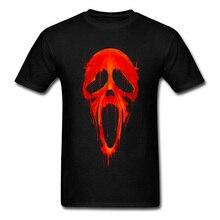 Cool T Shirts Mens Tees Bloody Scream Skull Horror T-Shirt Male Tops & Plus Size Casual Tee Shirt Black Rock Tshirt For Men