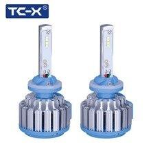 TC-X 2PCS Antifog H27 880 LED Light Car Headlights Bulbs Kit for 12V Auto Driving Fog Lights External Lights Turbo LED Light
