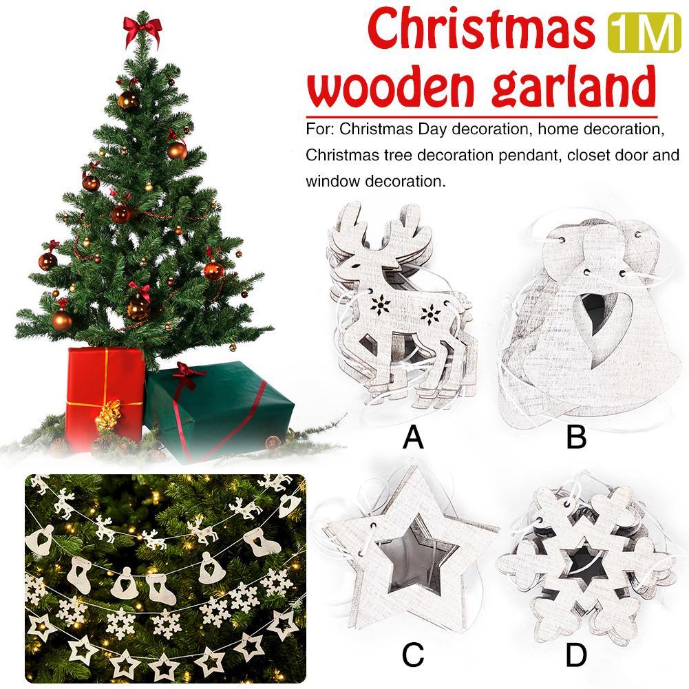 christmas garland pendants christmas tree cutouts decorationsanta claus smowman hanging christmas decoration supplies in pendant drop ornaments from home - Garland For Christmas Tree