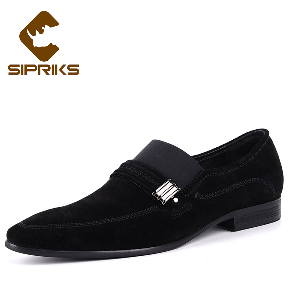 Sipriks Summer Mens Formal Tuxedo Suede Dress Shoes Mens Moccasin Slippers Slip On Shoes Loafers Imported Italian Shoes 2018 New suede slip on mens shoes
