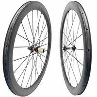 carbon road wheelset 700c 45mm clincher 25mm width carbon wheel road carbon wheels road bike wheels NOVATEC HUBS 3K UD 20H 24H