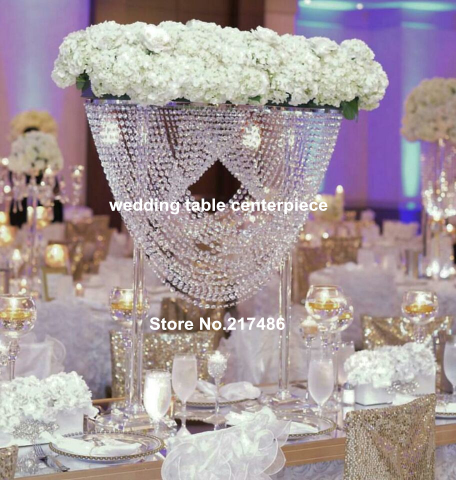 popular crystal wedding centerpiecebuy cheap crystal wedding, Beautiful flower
