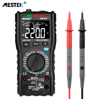 MESTEK DM100 Digital Multimeter High Speed Smart Double Core T rms NCV Temperature multimetro Anti burn Fuse Alarm multimeters