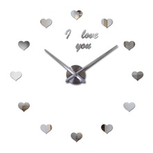 New Fashion new Diy acrylic mirror wall clock brief still life needle clocks living room home decoration quartz watch stickers