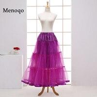 Vintage Dress Petticoat For Wedding Retro Crinoline Women 3 Hoops Wedding Accessories Light Blue Long Petticoats
