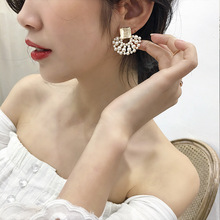 Fashion korean Pearl Stud statement  Earrings for women aretes beaded drop dangle earrings jewelry