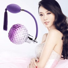 100ML Vintage Crystal Glass Perfume Bottle Spray Atomizer Refillable New purple blue pink