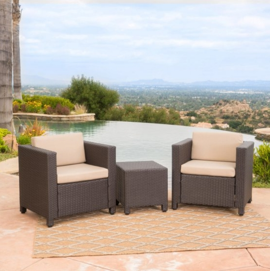 All Weather Garden Chairs Dark Brown Leather Accent Chair Hot Sale Furniture Balcony Sofa Set Wicker Official Table And