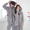 New Arrival Coral Fleece Thickening Pajama Sets Flannel Sleepwear Cardigan Couples Pajamas Tracksuit Lounge Casual Home Clothing