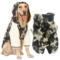 Winter warm wool large dog clothes Big coat jacket Pet camouflage hoodie pajamas clothing golden retriever Shepherd dog Labrador