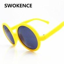 cbba11fe3f SWOKENCE Vintage ronda gafas de sol mujeres hombres marca diseñador clásico  colorido marco gafas de sol Retro UV400 gafas SB52