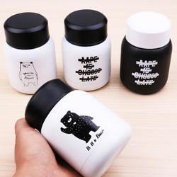 Новый корейский вакуумный термос из нержавеющей стали Еда jar Термальность контейнер изолированные суп держатель черный, белый цвет