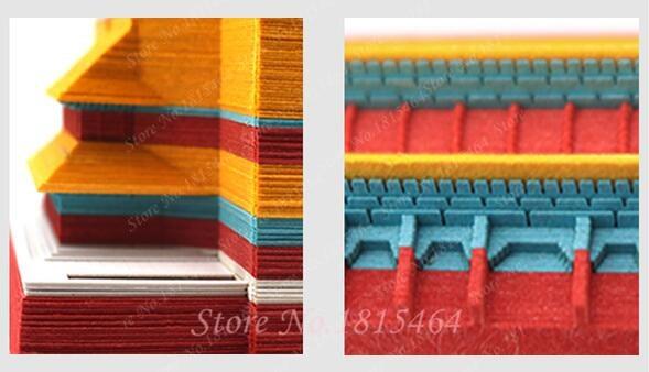 3D Tiananmen Notities Papier Creatieve Papier Netto Rode Stereo Stickers Aanwezig Wereld Architectonische DIY Cultuur Model Gift Decoratie - 3