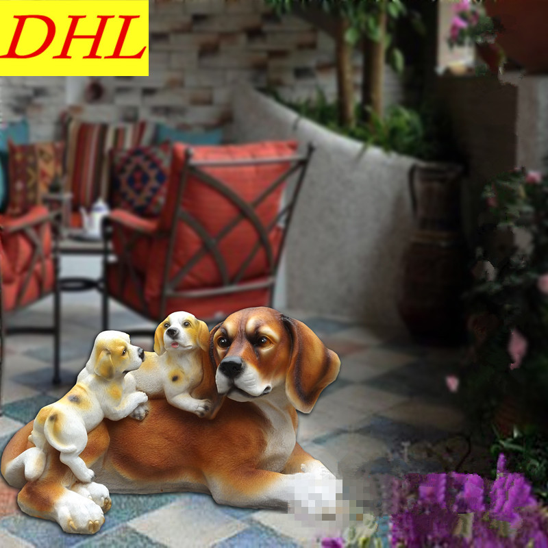 Simulation Cute Labrador Retriever Animals Dogs Colophony Crafts Balcony Home Decorations Collectible Kids Gift Toy L1983 cute simulation bear animals boonie bears crafts continental home villa district decorations collectible model toy l1973