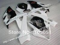Injection molding custom for 2005 suzuki gsxr 1000 fairings K5 2006 GSXR 1000 fairing 05 06 glossy black with white HM71