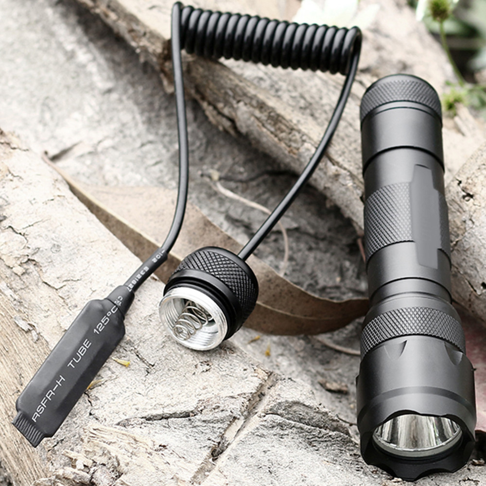 Sofirn 502B Kit Cree XML2 LED Flashlight 18650 Powerful 850lm Torch light Tactical Portable Flash light with Remote Switch Tail hot sale q5 red led flashlight torch light tactical lanterna 18650 flash light linternas rat tail switch for hungting