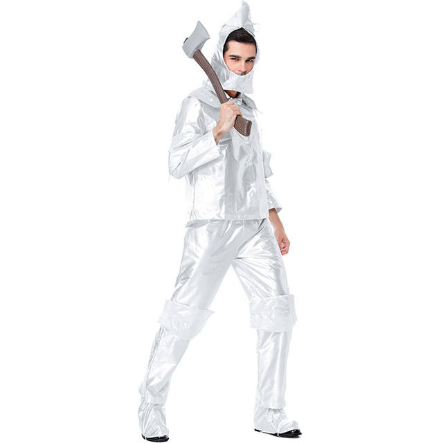 Men's Silver Costume of Woodcutter for Halloween