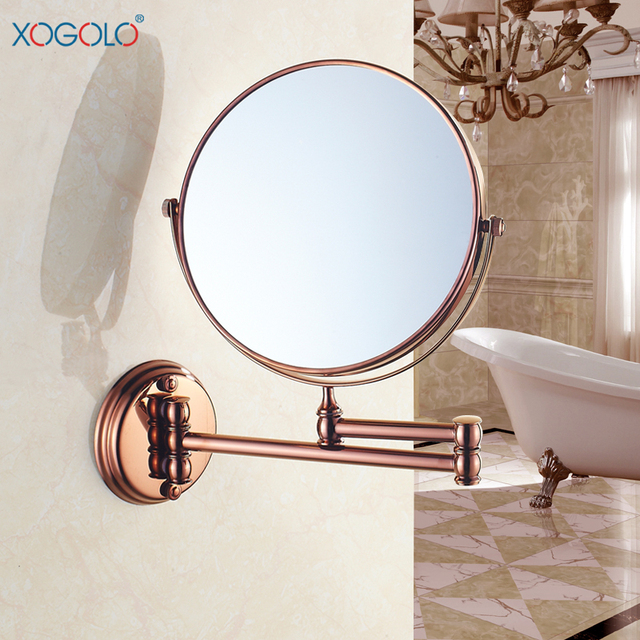 Xogolo 8'' Two-Sided Wall Mount Makeup Mirror 360 Degree Swivel Extendable Cosmetic floding, Easy Positioning,  3x Magnificatio