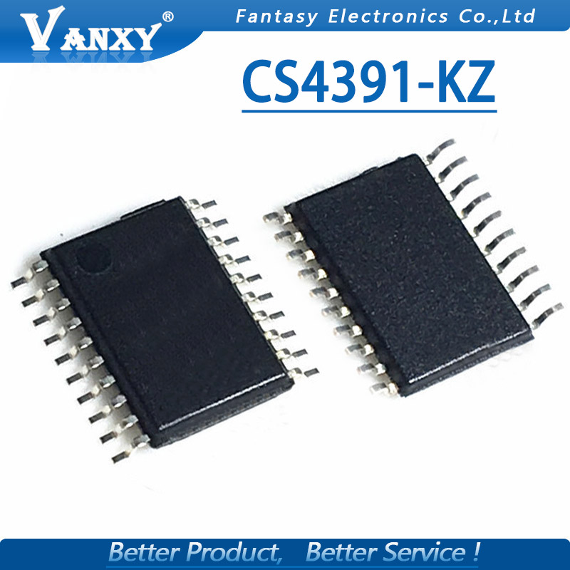 10pcs New CS4391 CS4391KZ CS4391-KZ TSSOP20 <font><b>24</b></font>-Bit <font><b>192</b></font> kHz Stereo <font><b>DAC</b></font> with Volume Control IC image