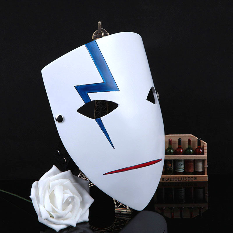 Movie Theme Party Masks Anime Smile Hei Lee Cosplay Props Halloween Darker Than Black Resin Halloween High Quality Cosplay Prop