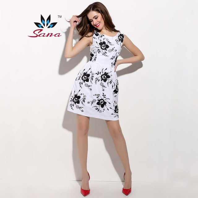 Sana new women summer dress sleeveless sexy cool cute