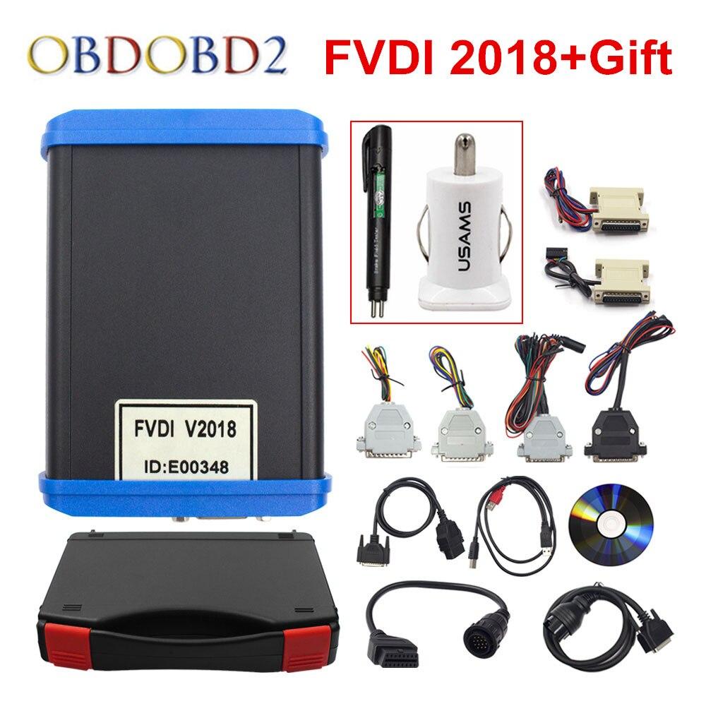 Originale FVDI 2018 Completo (Tra Cui 18 Software) coperture FVDI FVDI ABRITES Commander Non Limitato 2014 2015 e La Maggior Parte Delle Funzioni Di VVDI2