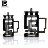 800MLHeat Resistant Glass Plastic Double Wall French Press Coffee Tea Pot With Stainless Steel Filter Coffee