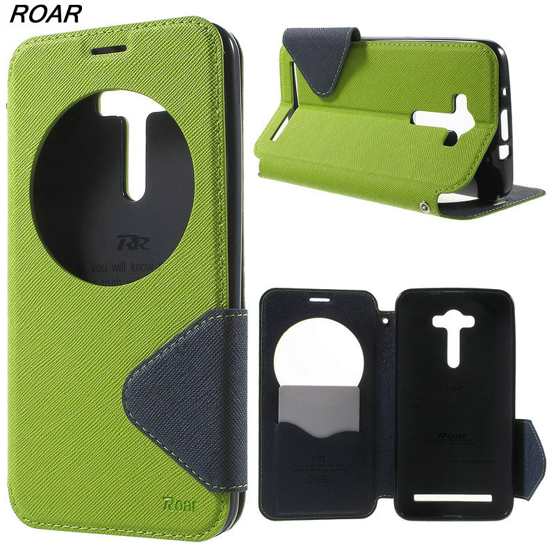 For Asus Zenfone 2 Laser Case Original ROAR KOREA Diary View Window Leather Case for Asus Zenfone 2 Laser ZE550KL ZE551KL