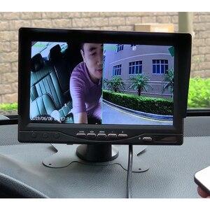 Image 5 - GreenYi AHD enregistrement DVR moniteur de voiture de 7 pouces avec caméra de vue arrière de véhicule 1920*1080P pour carte SD de soutien dautobus de camion