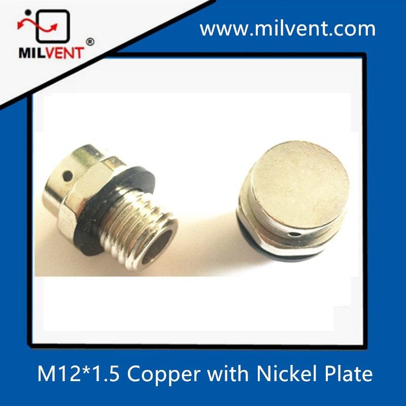 Медный с никелевой пластиной M12 * 1,5 винт в вентиляционных отверстиях вентиляционное отверстие штепсельная вилка вентиляционное отверстие