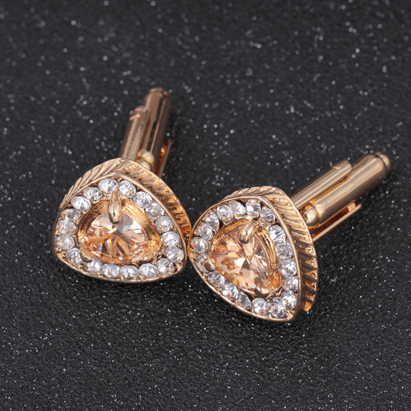 Mens Cuff Links With French Crystal Shirt Sleeve Button Mens Cuff Links Crystal Shirt Sleeve Button M.22