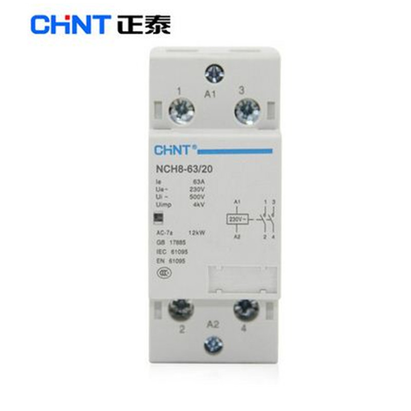 1PC NEW CHNT Small single-phase AC contactor 220V NCH8-63//40 63A 4P