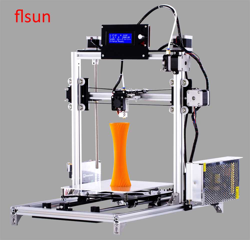 Reprap i3 3d Printer LCD Display Diy 3d Printing Kit, High Precision 3d printer With 2 Rolls Filament 2GB SD Card 2017 anet a8 3d printer high precision reprap impressora 3d printer kit diy large printing size with 1rolls filament 8gb sd card