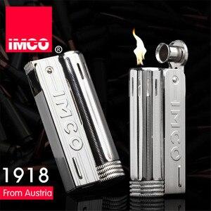 Image 1 - Klassische Echtes IMCO Benzin Leichter Allgemeine Leichter Original Öl Benzin Zigarette Gas Fackel Leichter Zigarre Feuer Reinem Kupfer