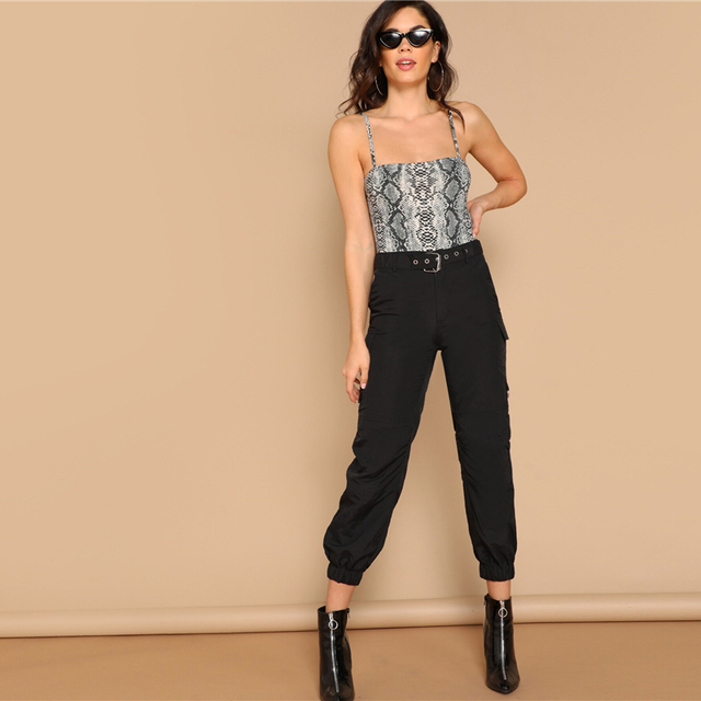 Snake Skin Print Casual Bodysuit Women – 21JS