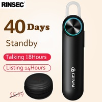 Rinsec 180MA Lang Standby Bluetooth 4 1 MINI Headset 10 Hours Continuous Calls Driver Exclusive For