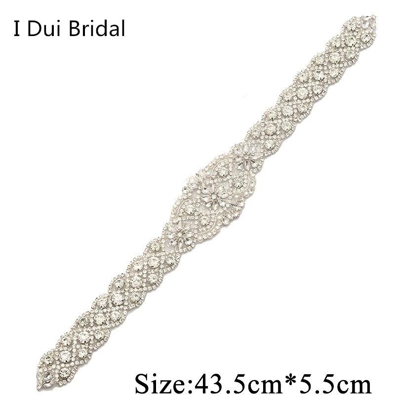 Bridal Sash Rhinestone Applique Crystal Pearl Rhinestone Belt Trim - Үйлену керек-жарақтары - фото 5