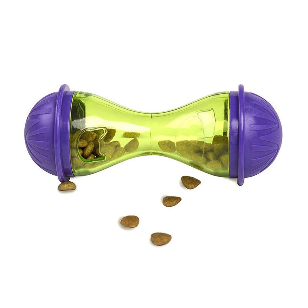 Tumbler кость для кормления домашних животных кошка собака протекающее устройство прочный питатель для домашних животных корыто для домашних животных Спорт ABS игрушки для домашних животных цвет случайный