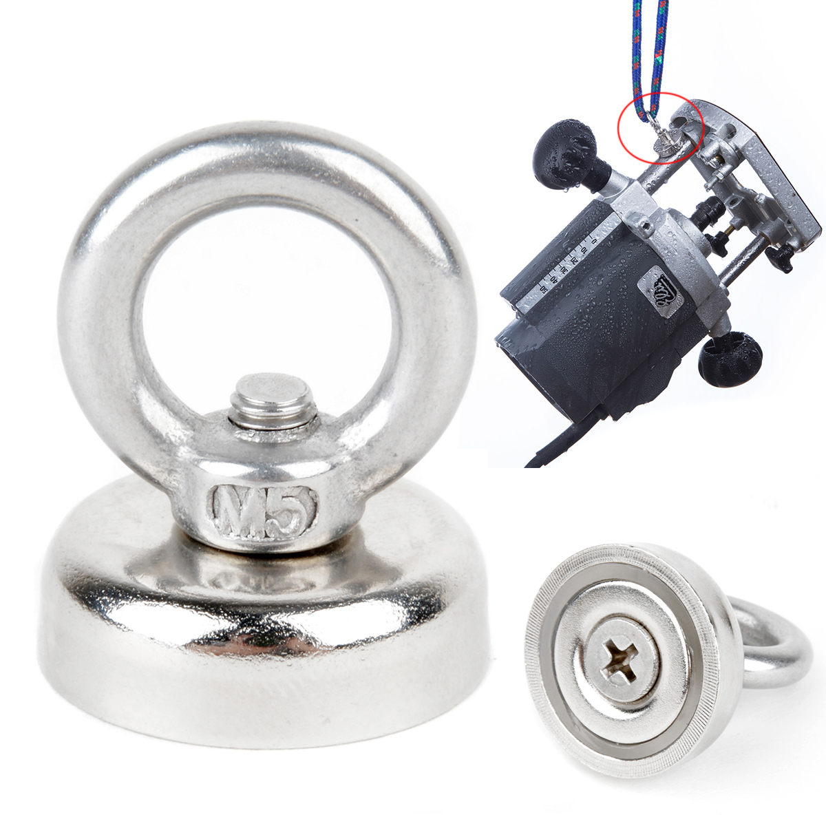 1pc Mini Recovery Clamping Magnet 25mm Very Strong Detector Magnet For Sea Fishing Treasure Hunting Keys Recovering Mayitr in Magnetic Materials from Home Improvement