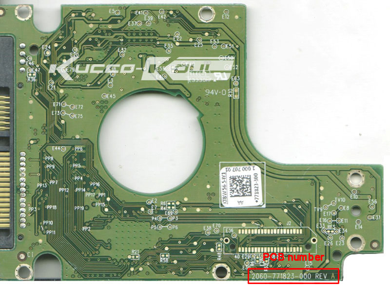 HDD PCB Circuit Board 2060-771823-000 REV A For WD 2.5 SATA Hard Drive Repair Data Recovery