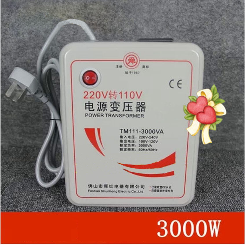 1 PC 3000w 3KVA Step Down Voltage Converter Transformer 220v-240V to 110v-120V