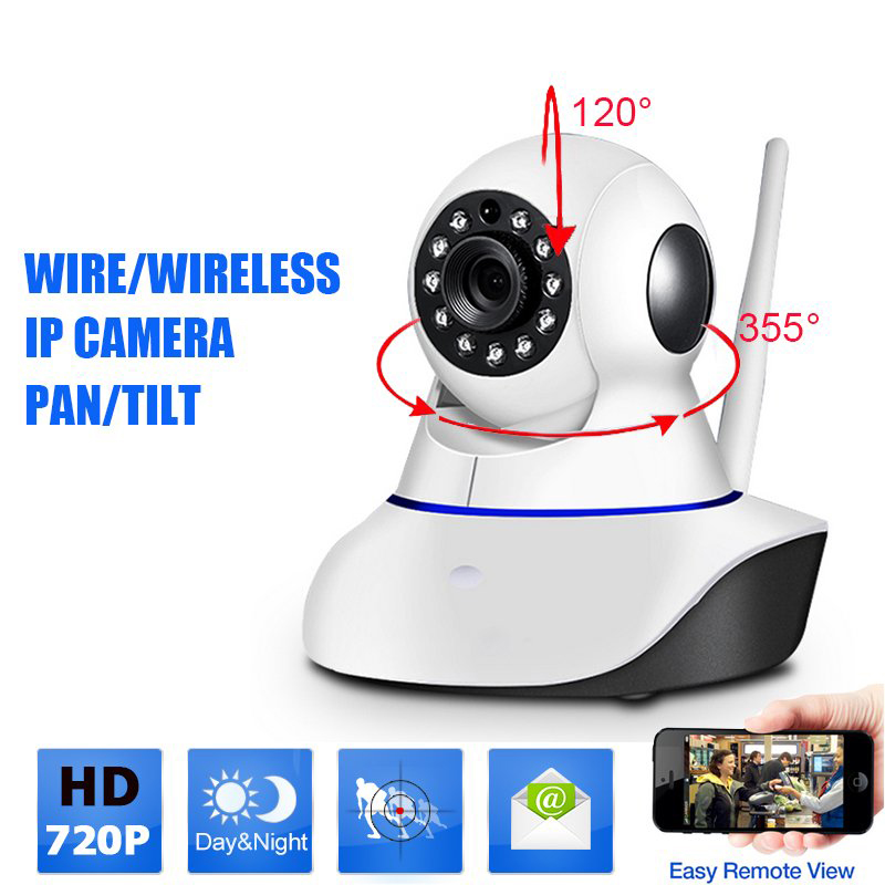 Email Alarm Security HD 720P H.264 IP Camera P2P Pan Tilt WiFi Wireless Network IP Security Camera Baby Monitor PTZ Night Vision цена