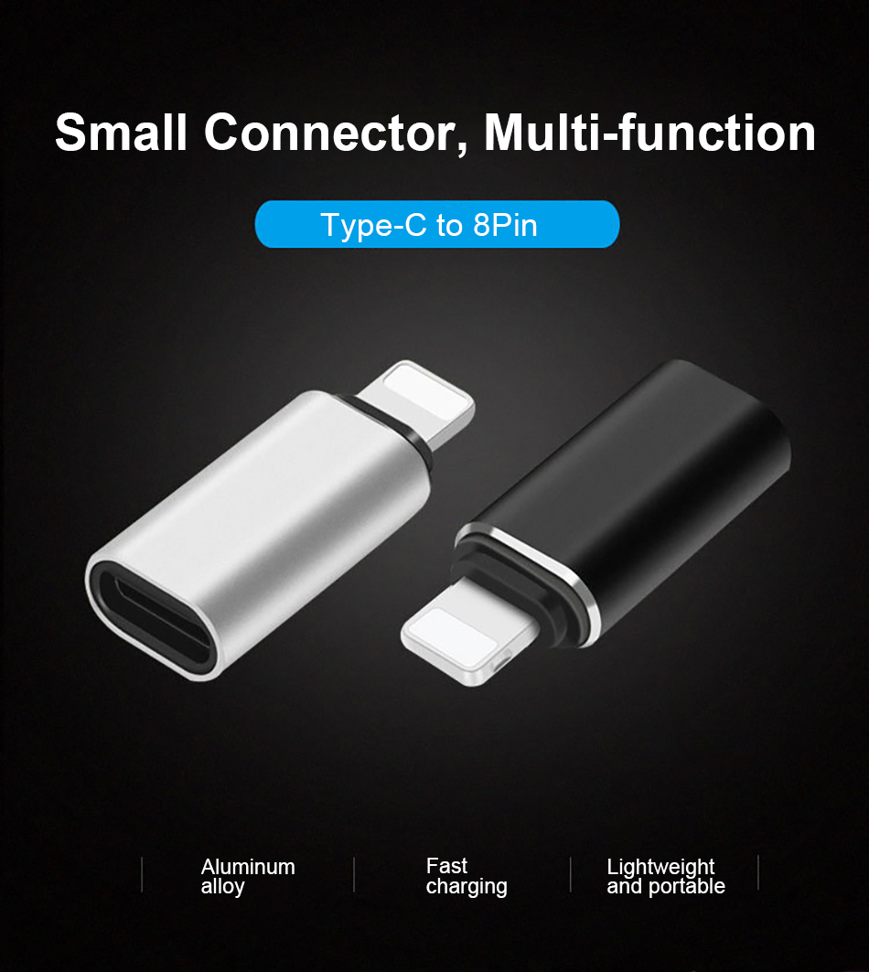 !ACCEZZ 5PC USB OTG Adapter For iphone X 7 8 Plus XS MAX XR Sync Data Charger Type-C To Lighting 8 Pin Converter For Apple 6S 5S (1)