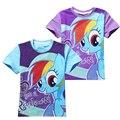 Chicas de Mi Caballo Camisetas Para bebé ropa de La Muchacha de Kawaii Cartoon Camisetas de algodón Niños roupas infantis menino vetement garcon