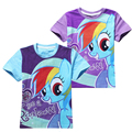 Girls My Pony T-shirts For baby Girl clothes Kawaii Cartoon T Shirts cotton Children roupas infantis menino vetement garcon