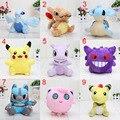 14~20cm pikachu Ampharos Lucario Gengar Jigglypuff Lapras Lugia Charizard Mewtwo Plush toys Stuffed Soft Dolls